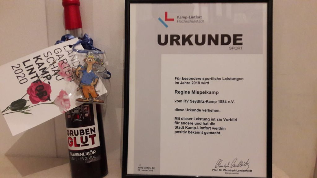 Urkunde Stadt Kamp-Lintfort